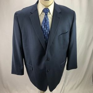 Joseph Abboud Men's Super 120 Blue Wool Blazer 52R